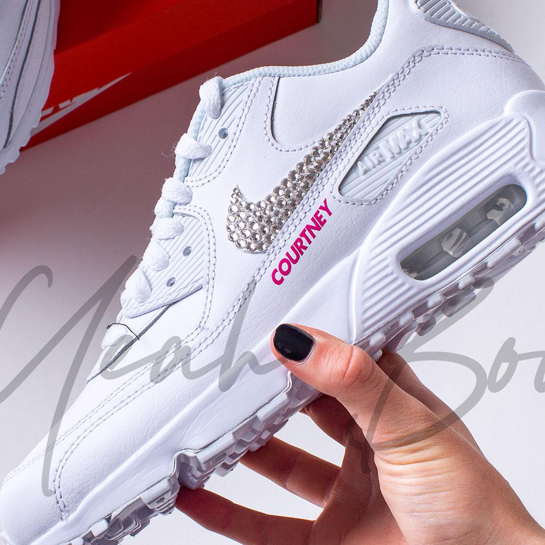 Custom Nike Max Sneakers Air 90s with optional Bling Swarovski