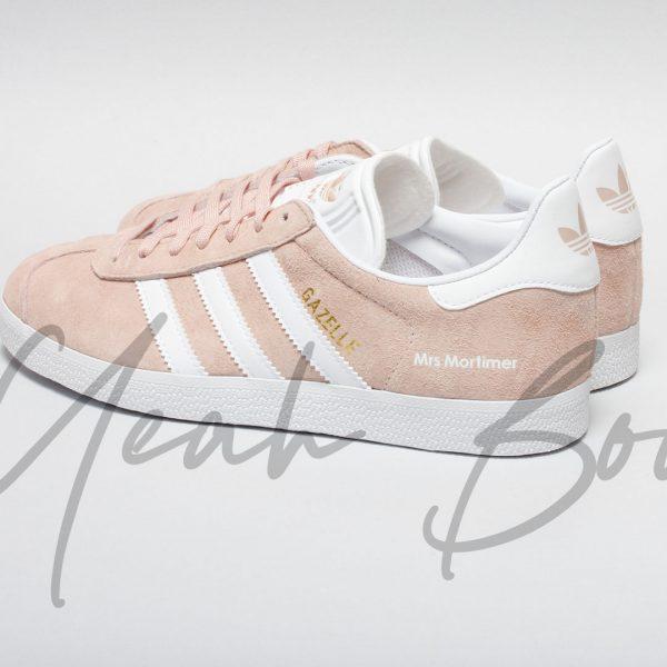 pink adidas wedding trainers